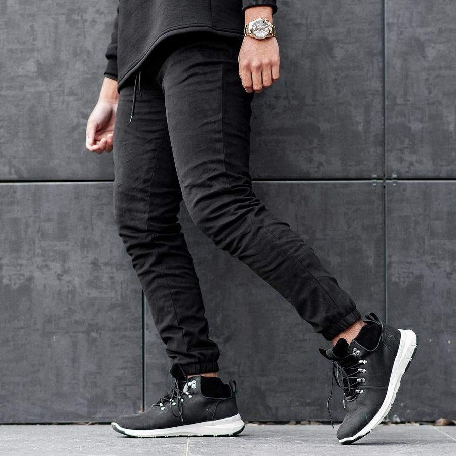 Теплые штаны джоггеры South black - фото 5
