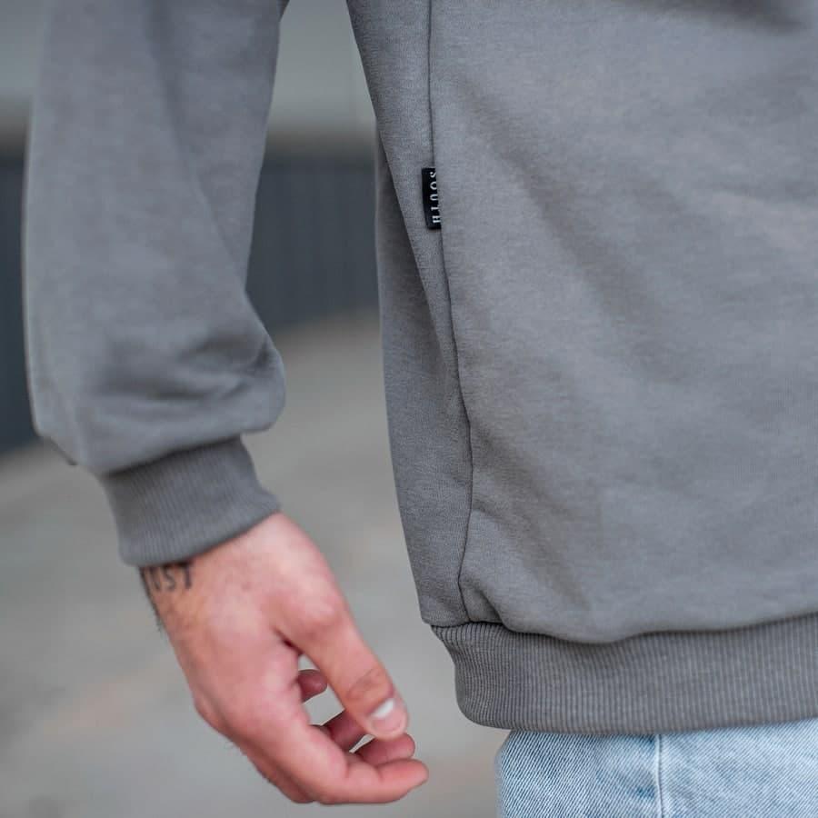 Свитшот South basik gray (c манжетом) - фото 3