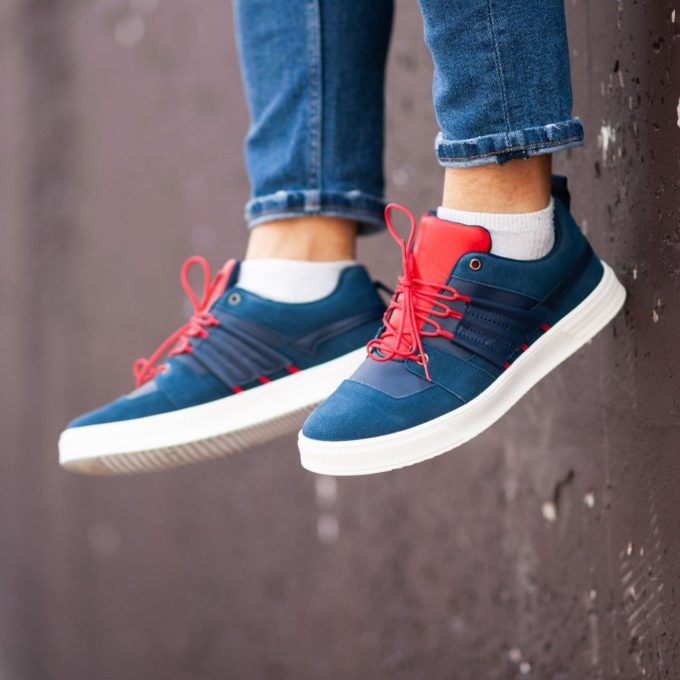 Кеды South Mason NAVY/RED - фото 3