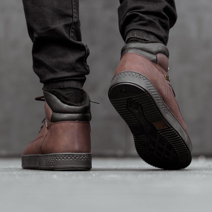 Мужские зимние ботинки на меху 0961 - фото 1