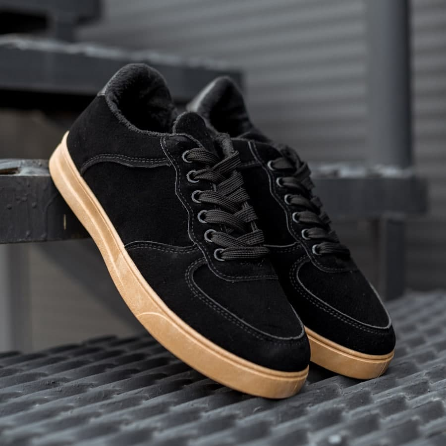 Зимние кроссовки на меху black\brown