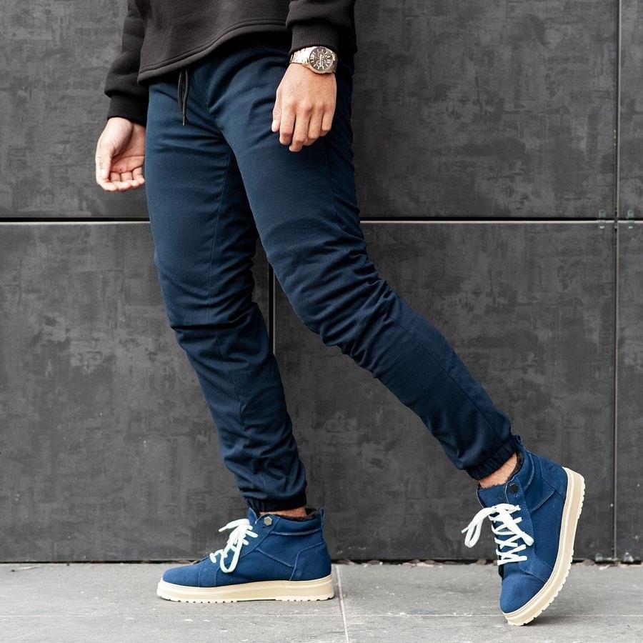Теплые штаны джоггеры South navy - фото 5