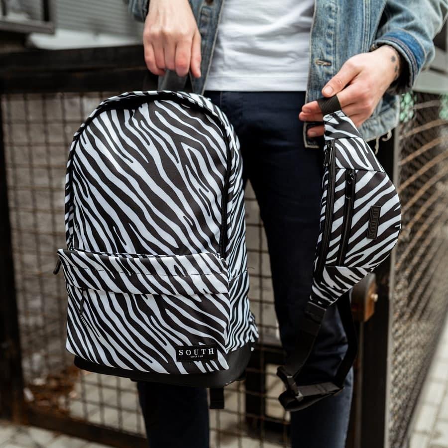 Комплект Рюкзак + Бананка Zebra
