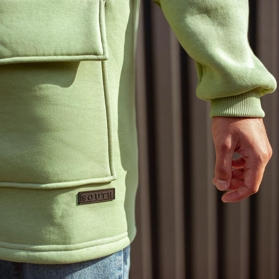 Худи South basic fleece mint oversize  - фото 7