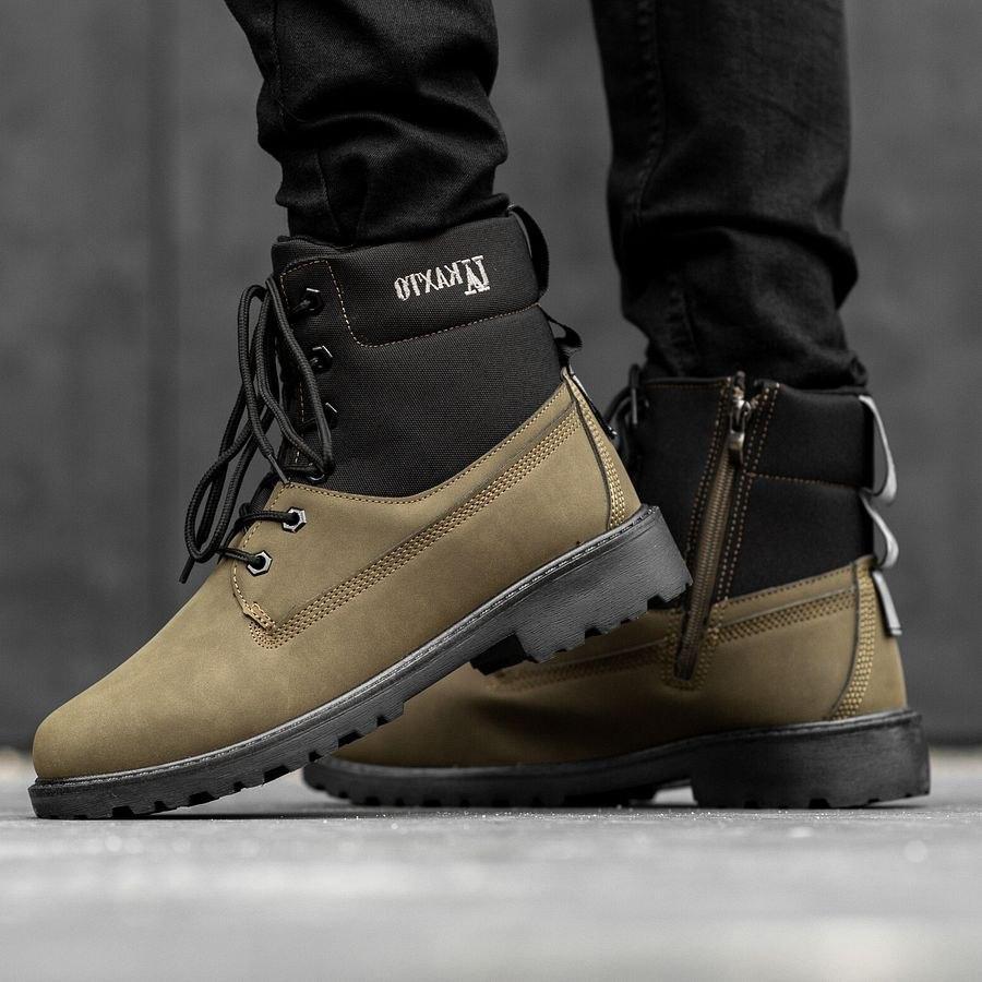 Мужские зимние ботинки на меху 0967 - фото 1
