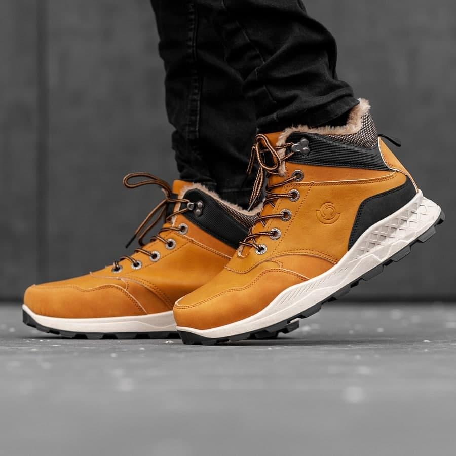 Мужские зимние ботинки на меху 0973 - фото 2