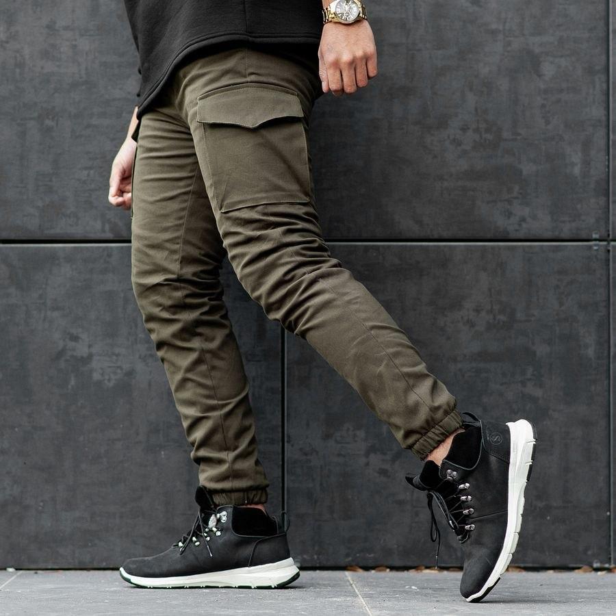 Теплые карго штаны South khaki - фото 5