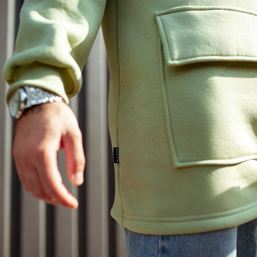 Худи South basic fleece mint oversize  - фото 6