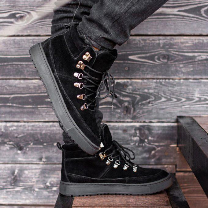 Ботинки South snike black - фото 1