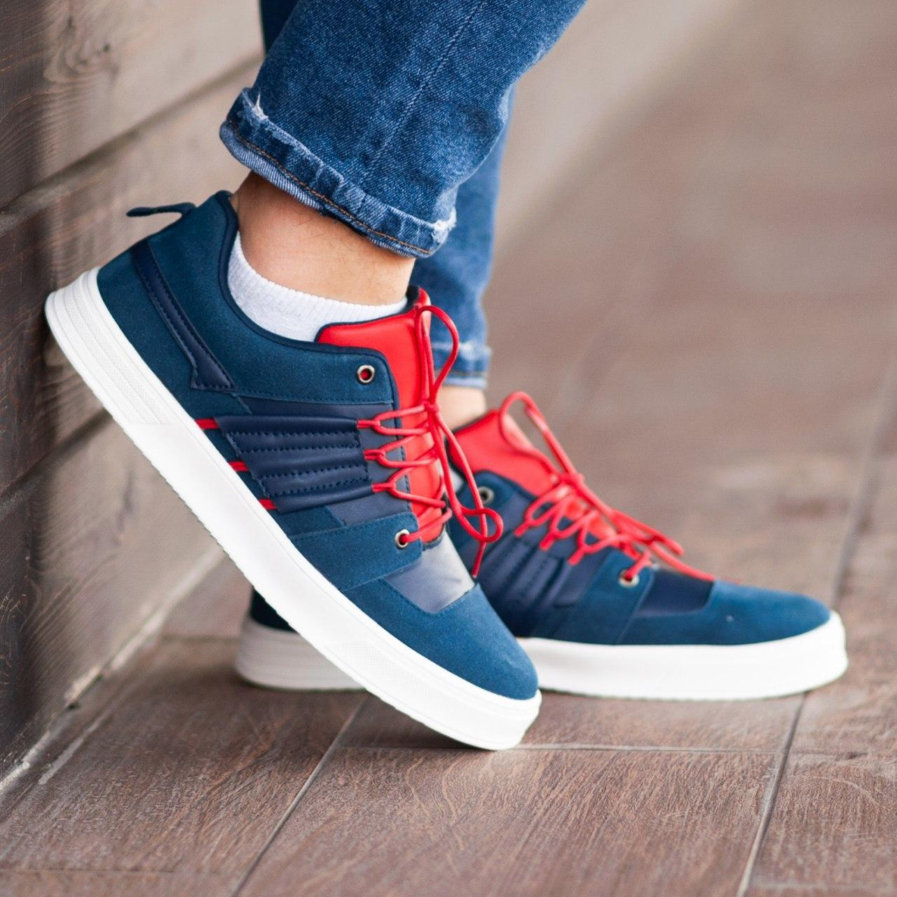 Кеды South Mason NAVY/RED