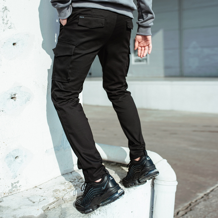 Карго штаны South black - фото 3
