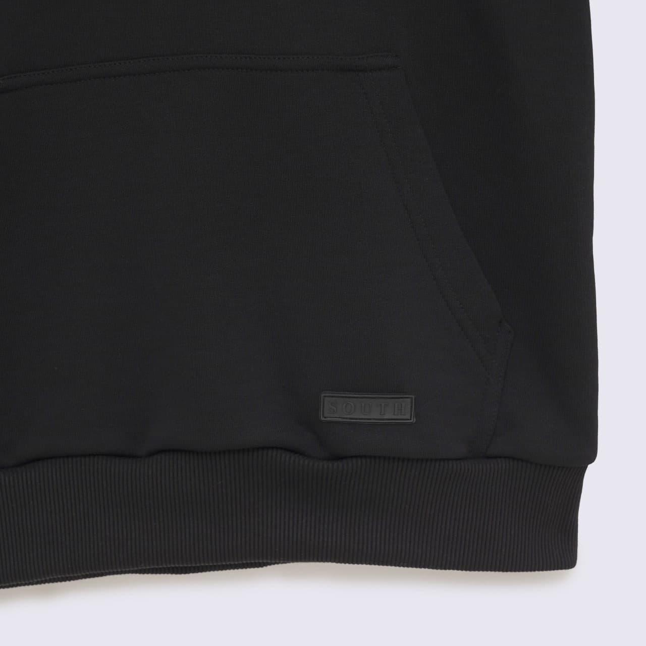 Худи с капюшоном South basik black  - фото 5