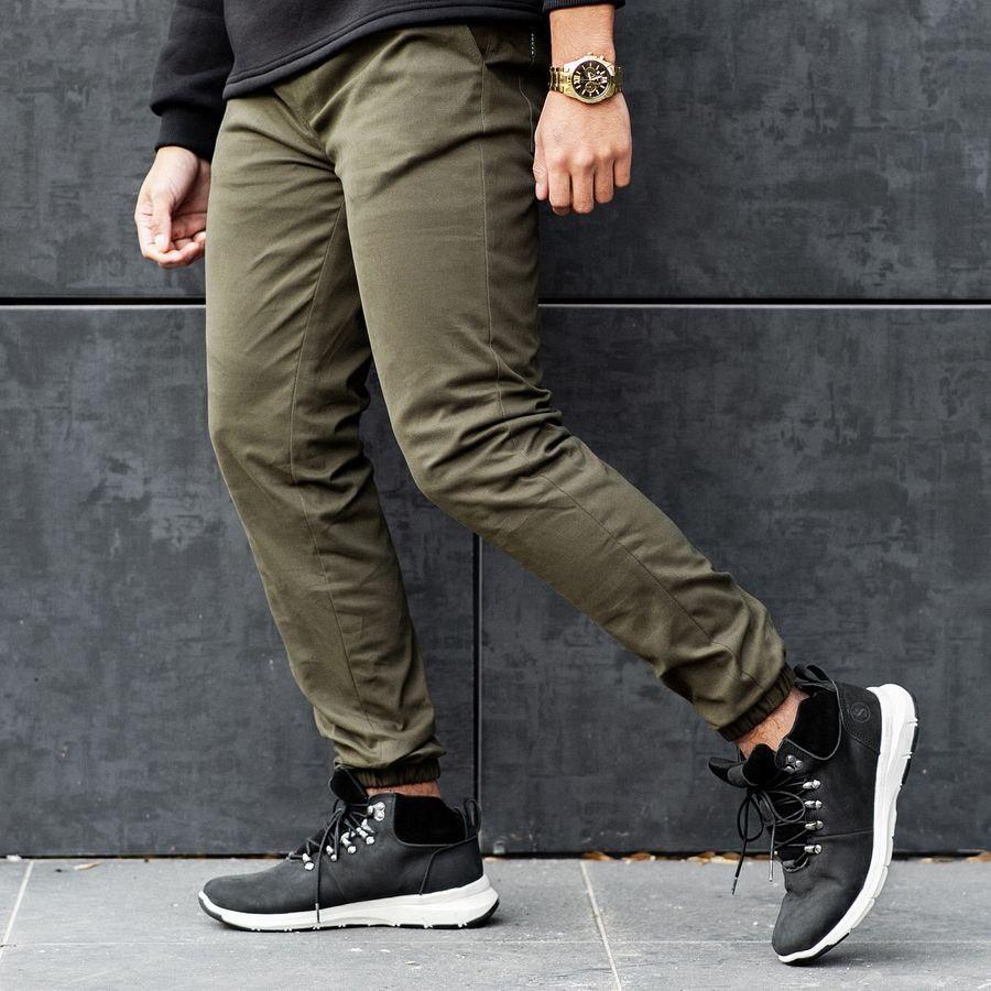 Теплые штаны джоггеры South khaki - фото 5