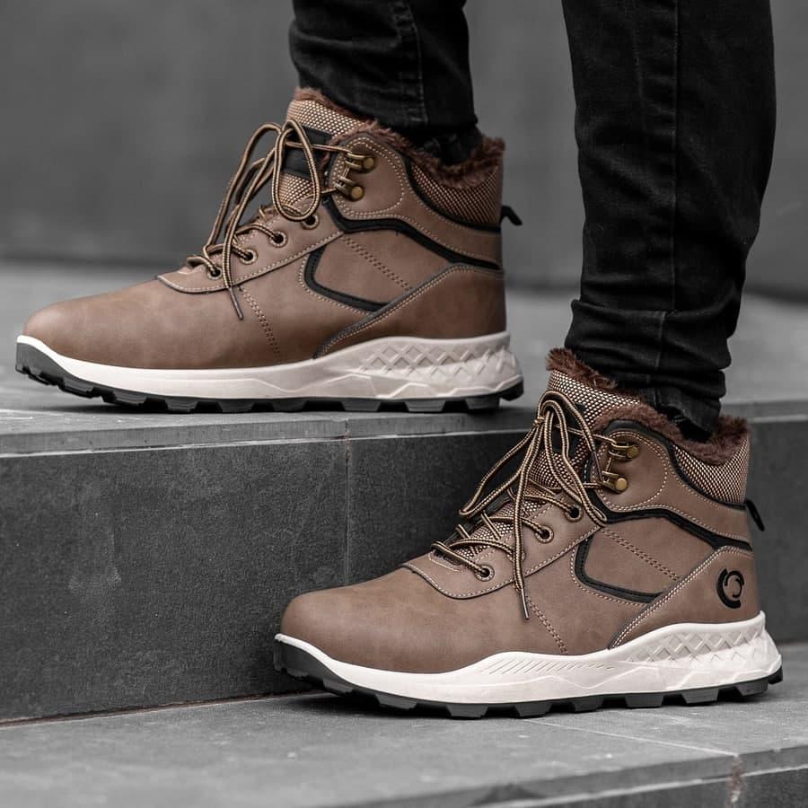 Мужские зимние ботинки на меху 0971