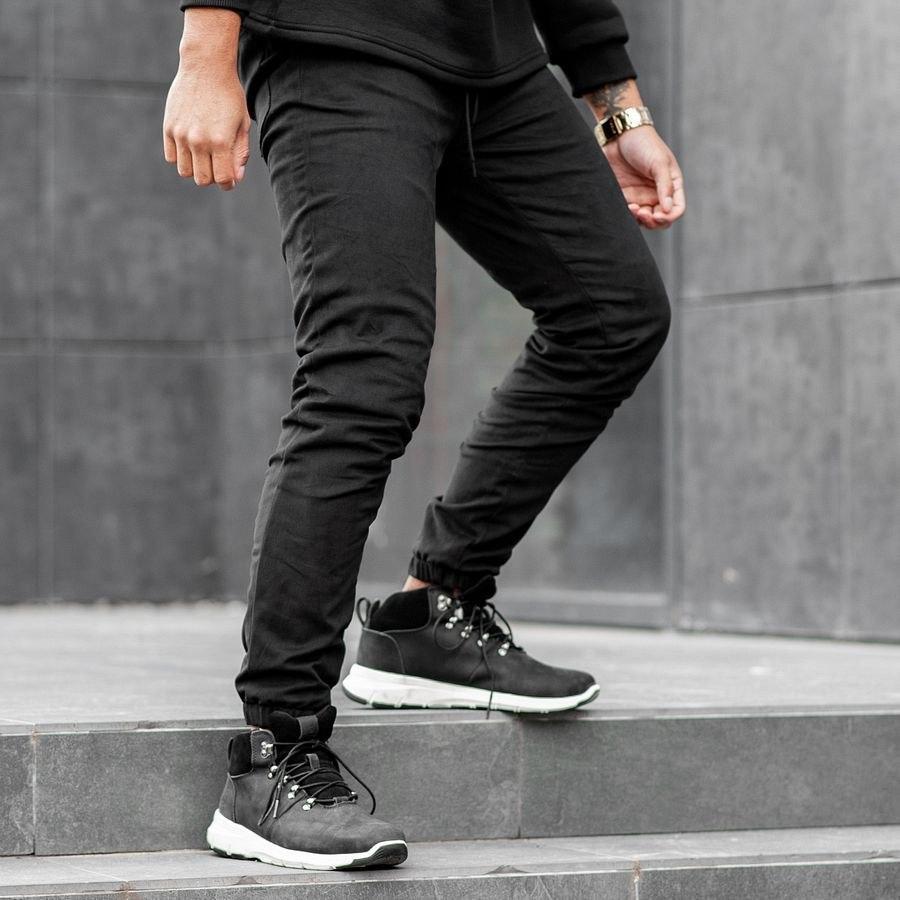 Теплые штаны джоггеры South black