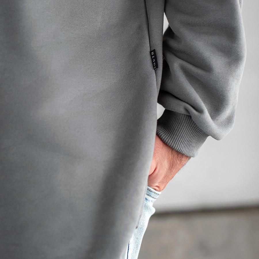 Свитшот South Oversize gray (без манжета) - фото 4