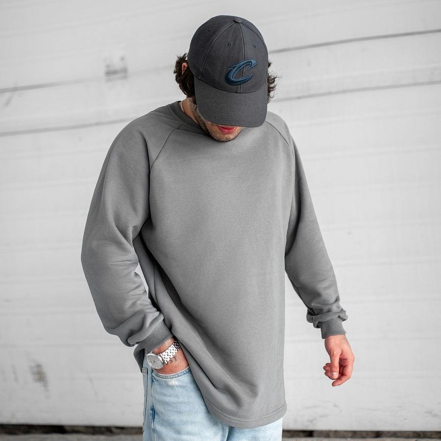 Свитшот South Oversize gray (без манжета) - фото 2