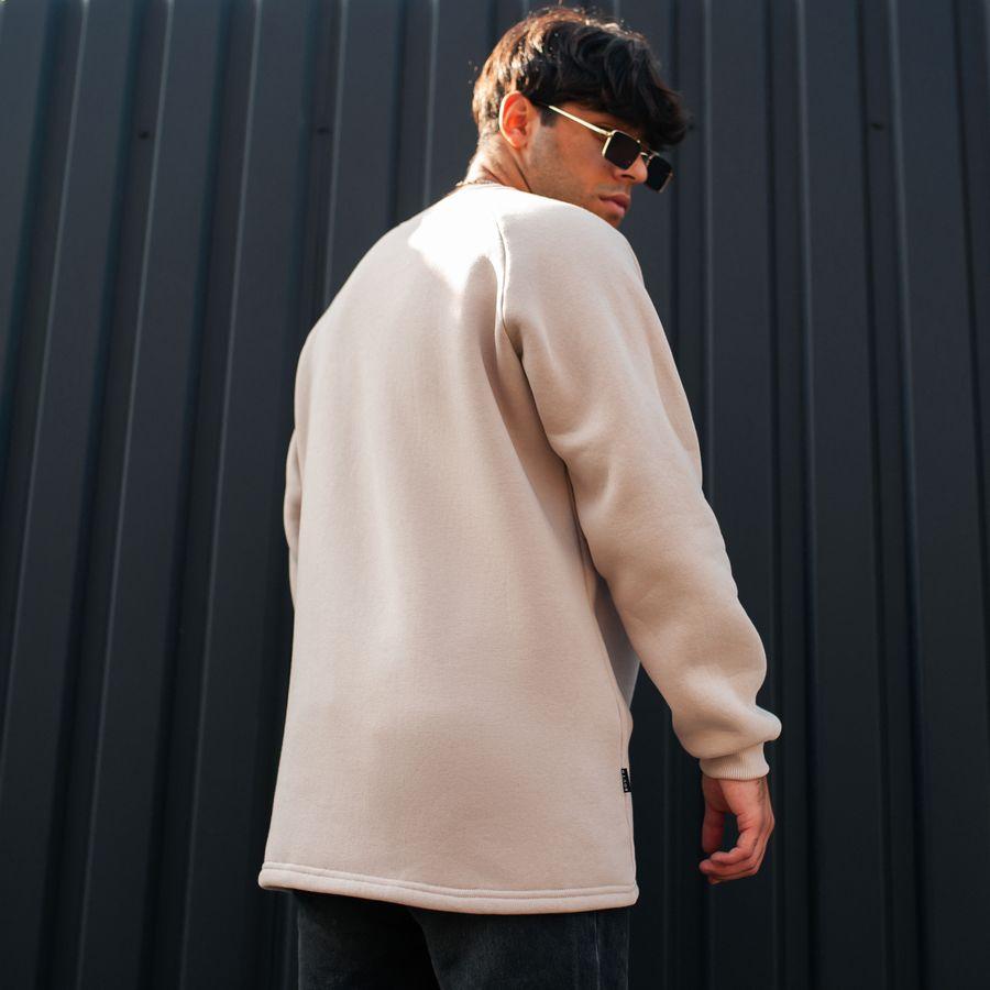 Свитшот South basic fleece beige oversize - фото 2