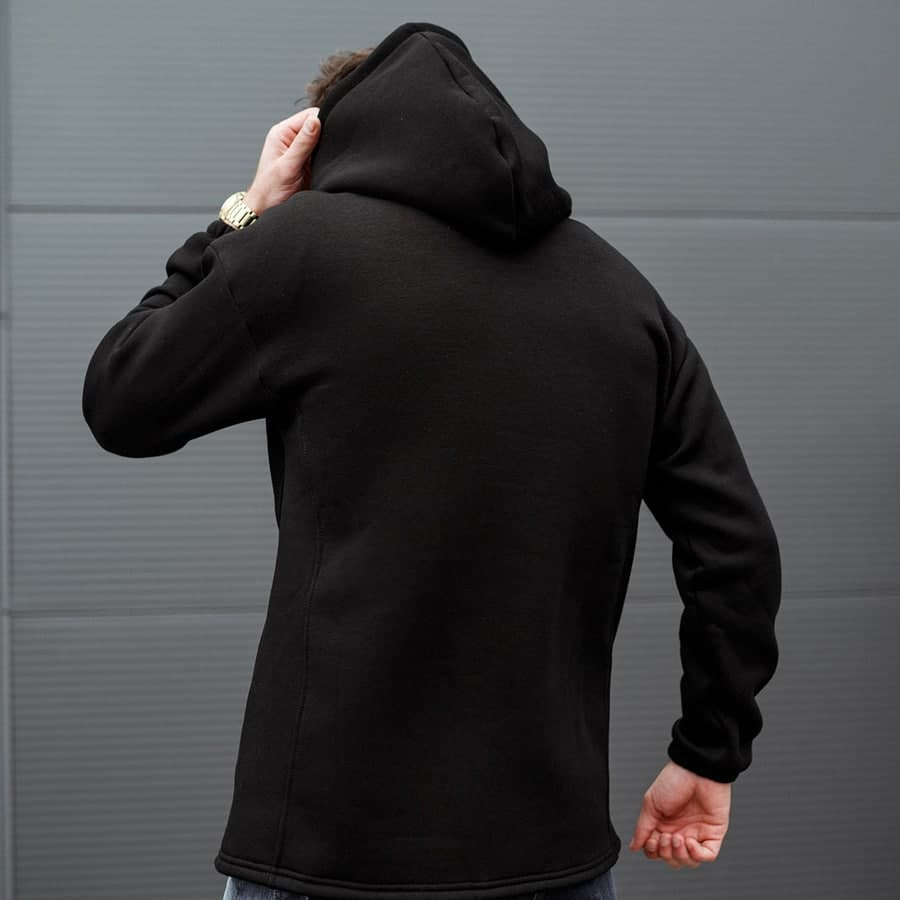 Худи South mamba black oversize fleece  - фото 3
