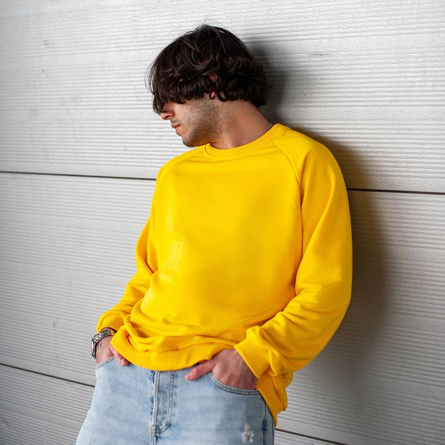 Свитшот South basik yellow (c манжетом) - фото 1