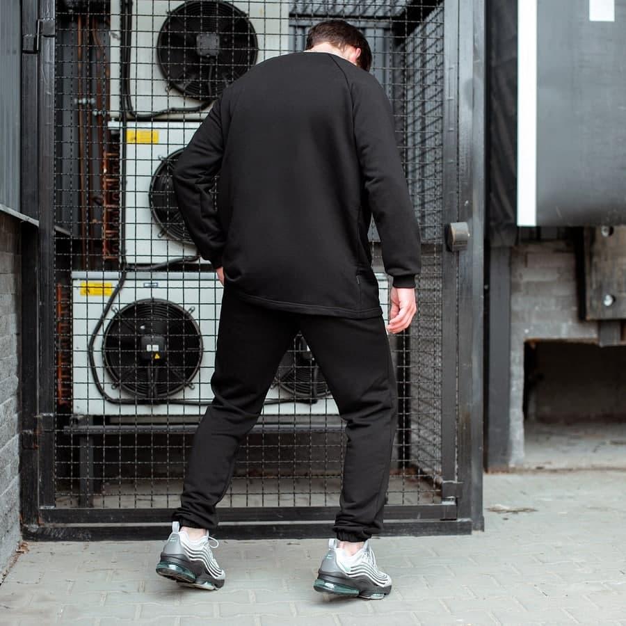 Спортивный костюм South Oversize  black (свитшот без манжета) - фото 2