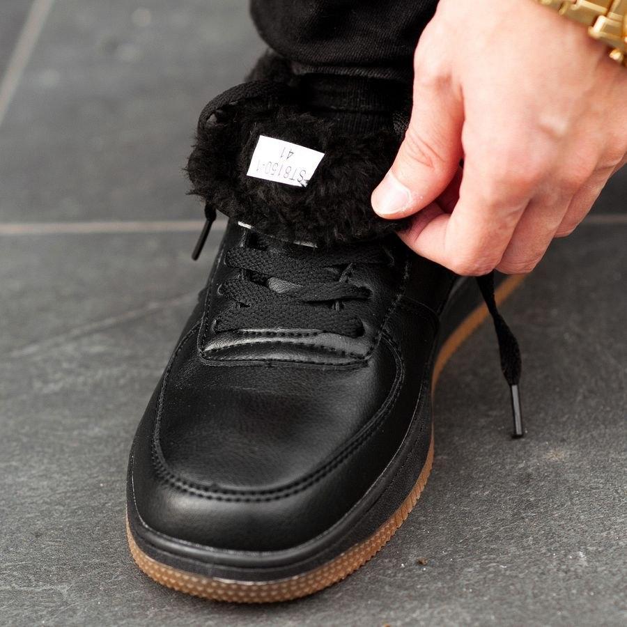 Мужские зимние кроссовки на меху 0958 - фото 5