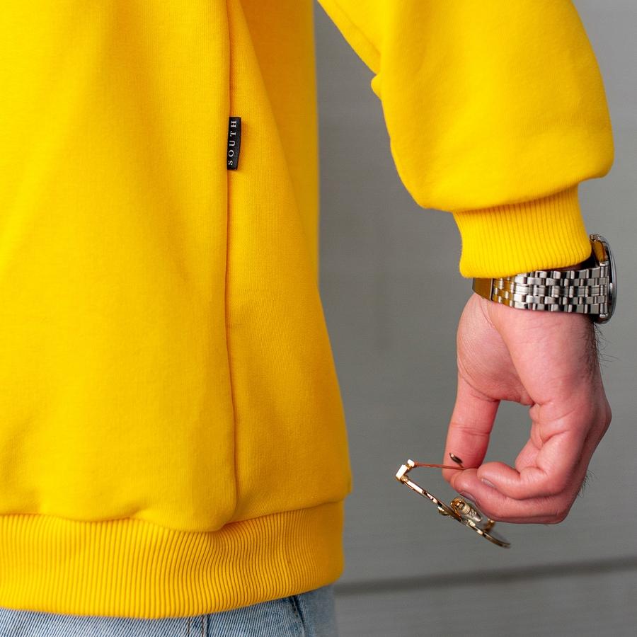 Свитшот South basik yellow (c манжетом) - фото 4