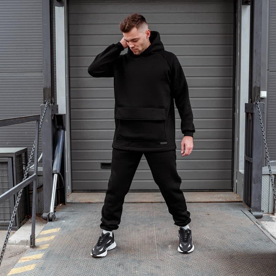 Спортивный костюм South basic fleece black