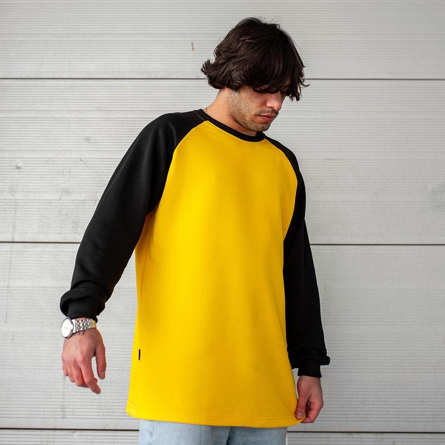 Свитшот South Oversize yellow\black  (без манжета) - фото 3
