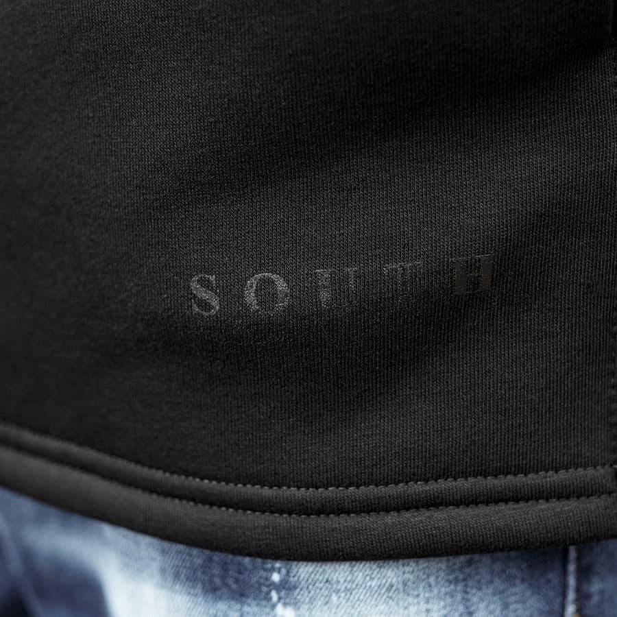 Худи South mamba black oversize fleece  - фото 2