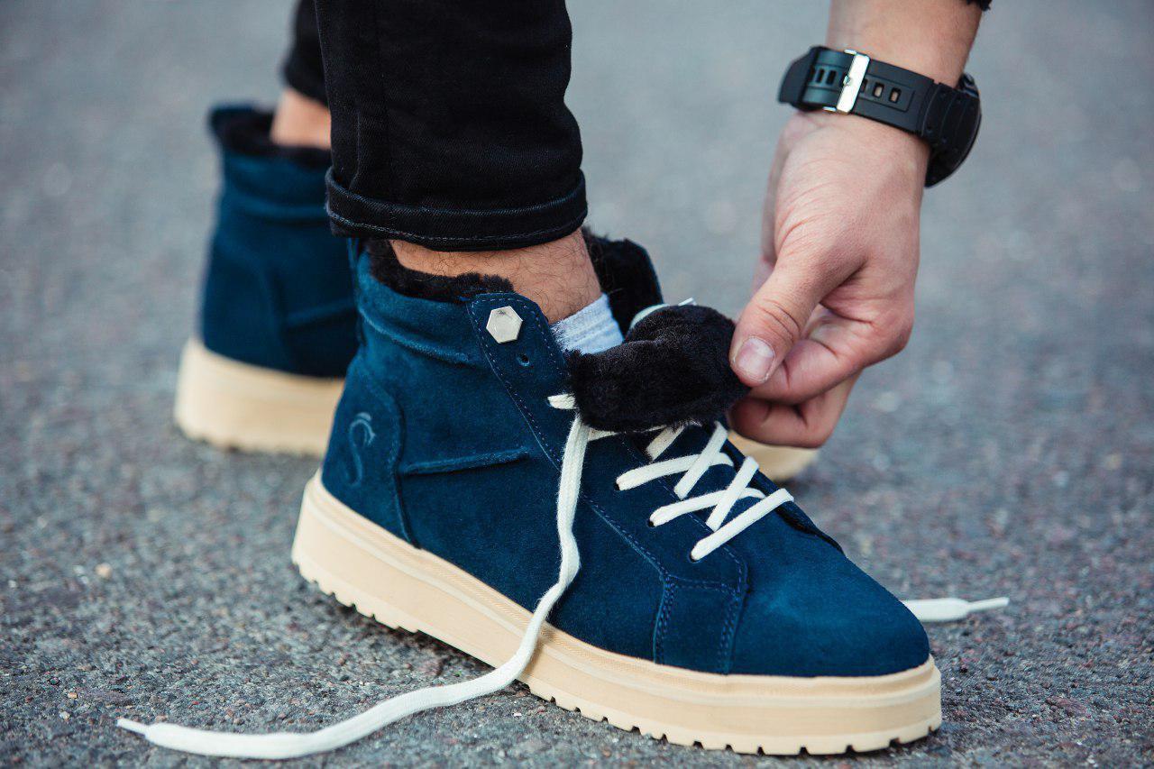 Ботинки South navy dark blue - фото 2