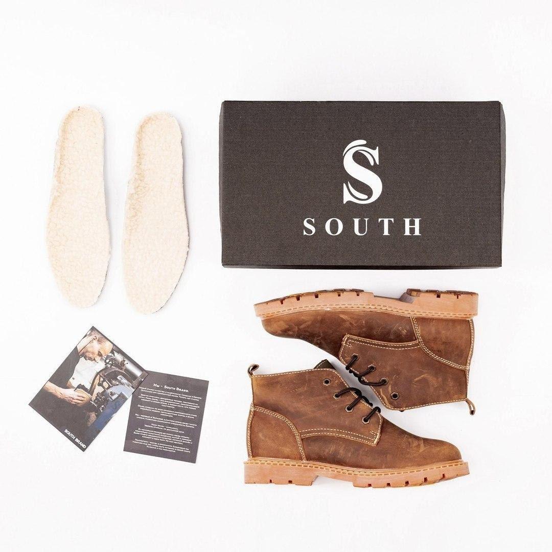 Ботинки South Jaston brown - фото 4