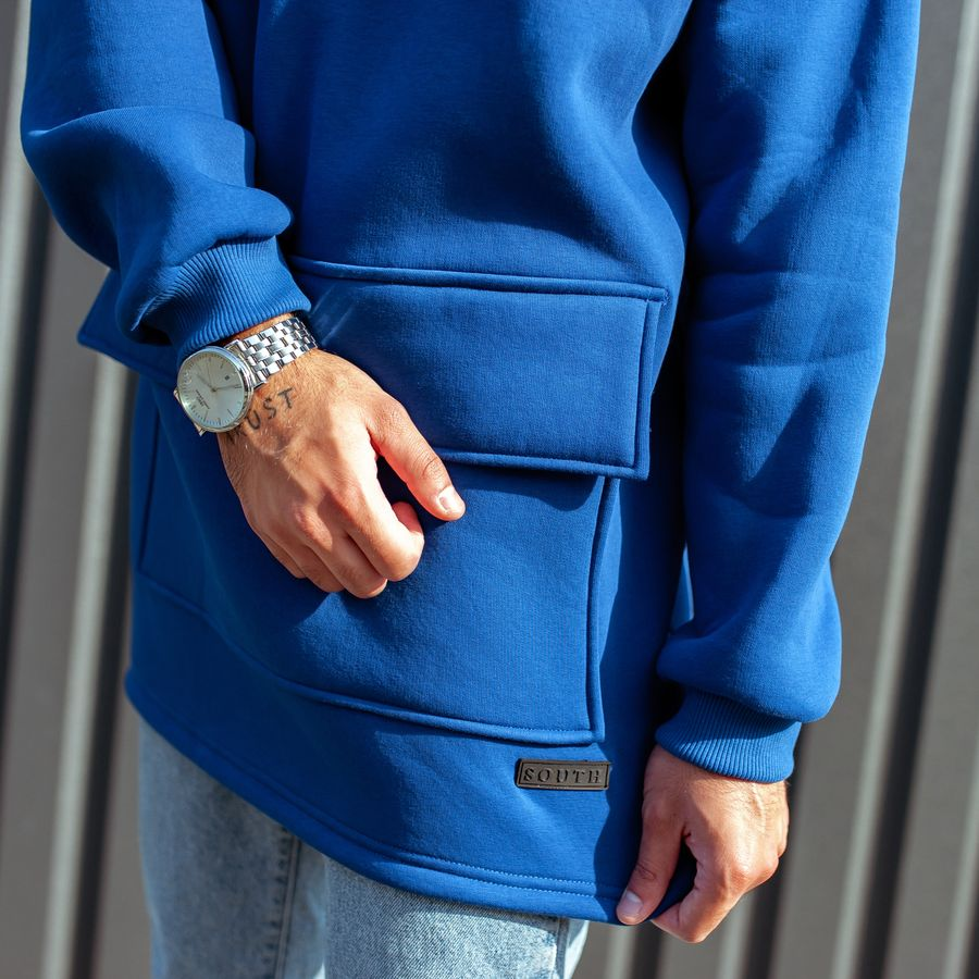 Худи South basic fleece electric oversize  - фото 8
