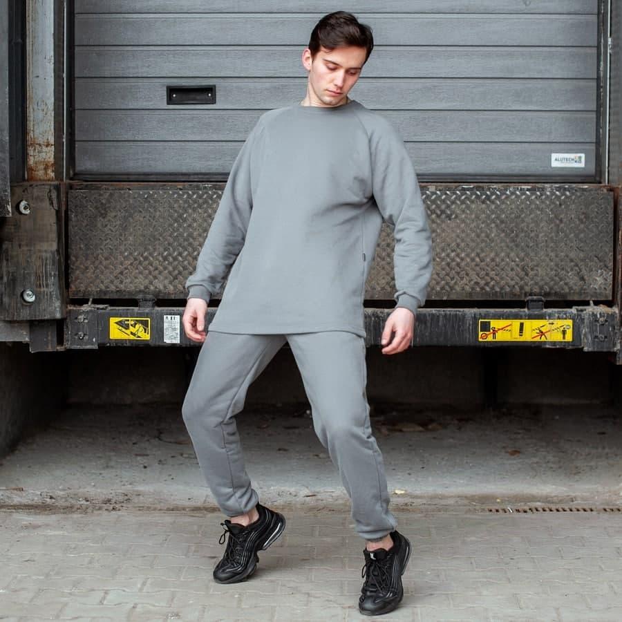 Спортивный костюм South Oversize  gray (свитшот без манжета) - фото 2