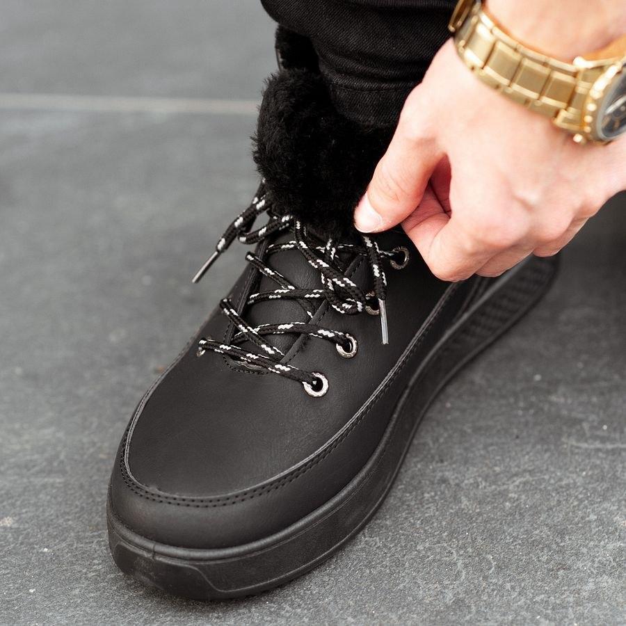 Мужские зимние ботинки на меху 0962 - фото 1