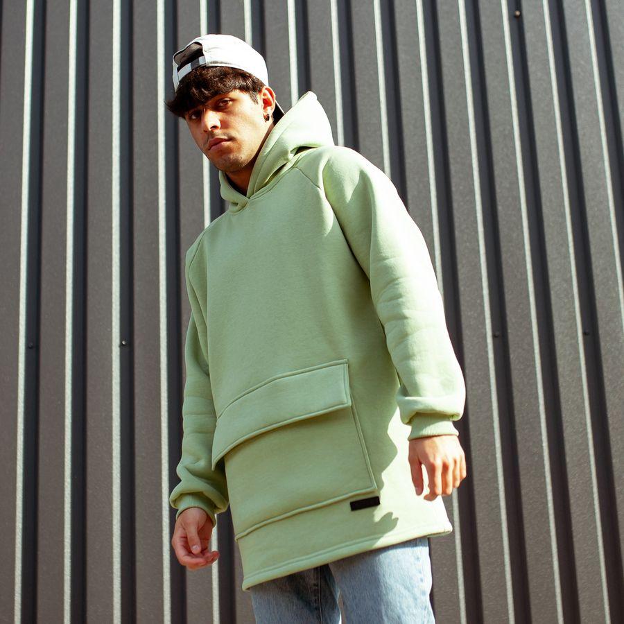 Худи South basic fleece mint oversize  - фото 3