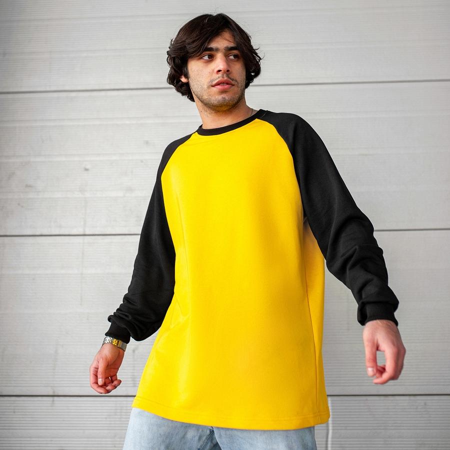 Свитшот South Oversize yellow\black  (без манжета)
