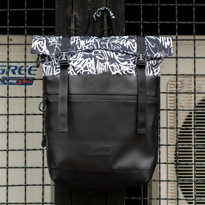 Комлект Рюкзак ROLLTOP + Бананка South Graffiti - фото 1