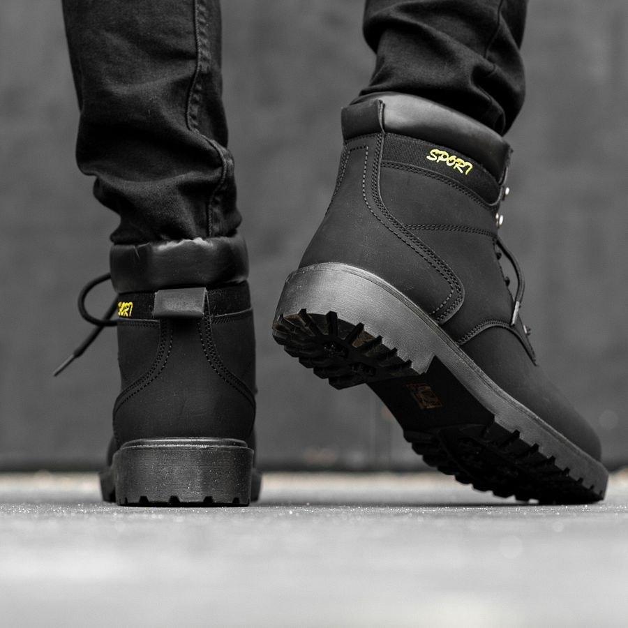Мужские зимние ботинки на меху 0966 - фото 1