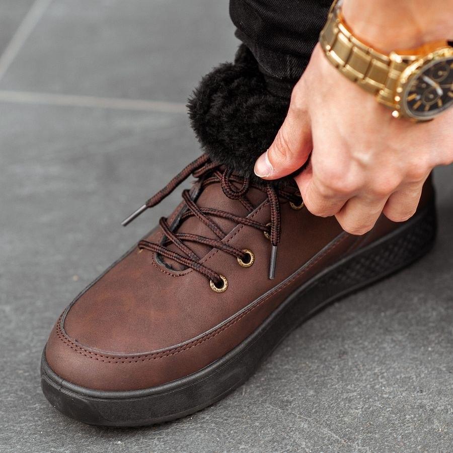 Мужские зимние ботинки на меху 0961 - фото 3