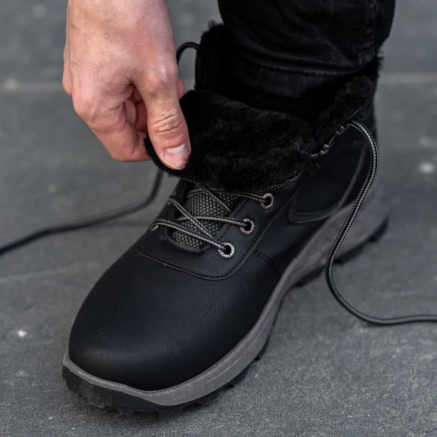 Мужские зимние ботинки на меху 0970 - фото 5