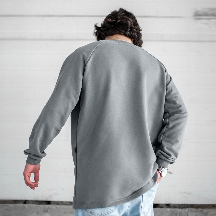 Свитшот South Oversize gray (без манжета) - фото 3