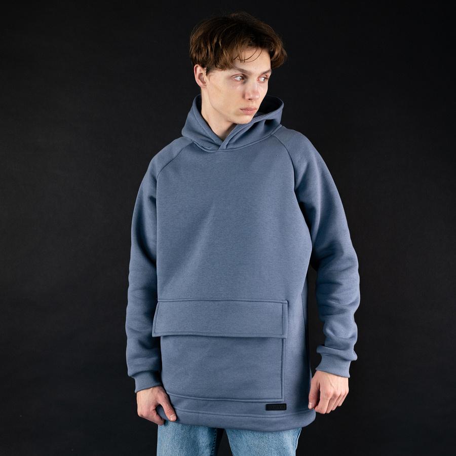 Худи South basic fleece gray oversize