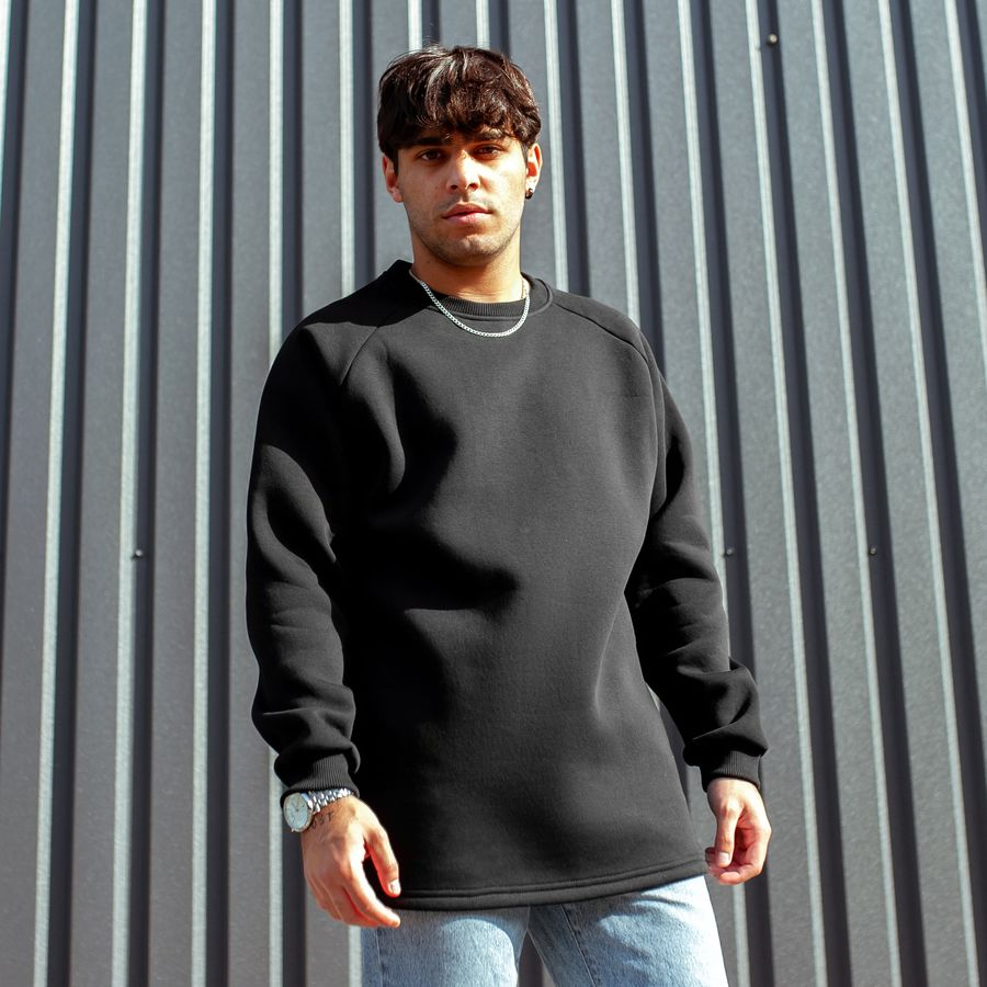 Свитшот South basic fleece black  oversize