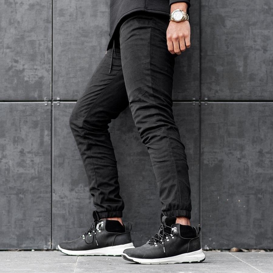 Теплые штаны джоггеры South black - фото 4