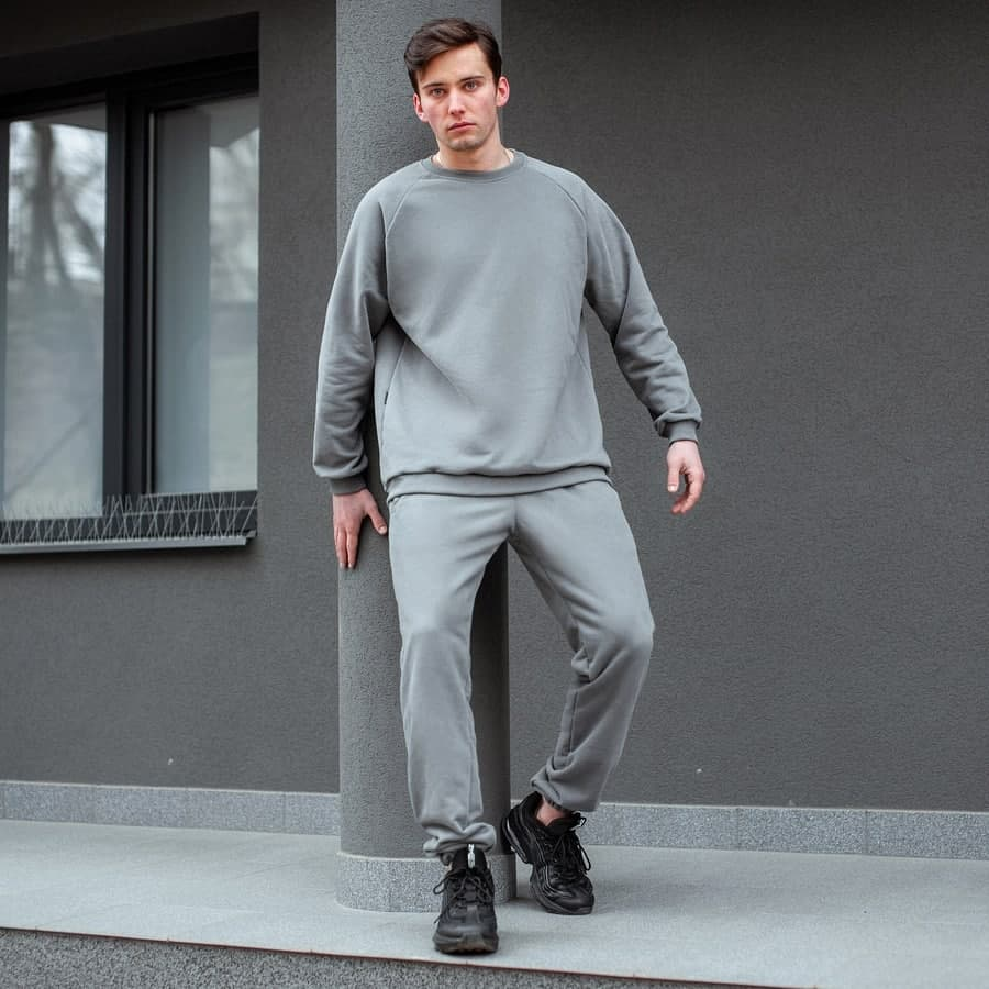 Спортивный костюм South basik gray (свитшот c манжетом)