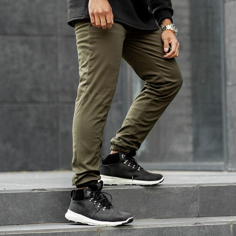 Теплые штаны джоггеры South khaki