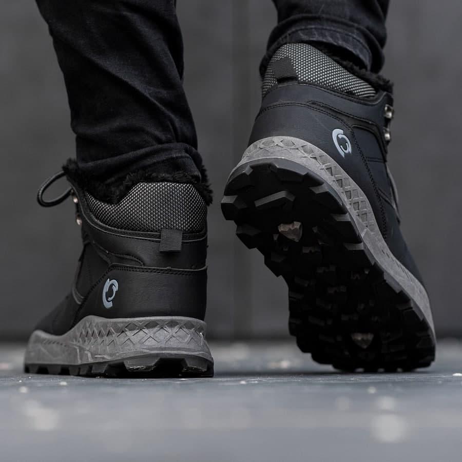 Мужские зимние ботинки на меху 0970 - фото 1