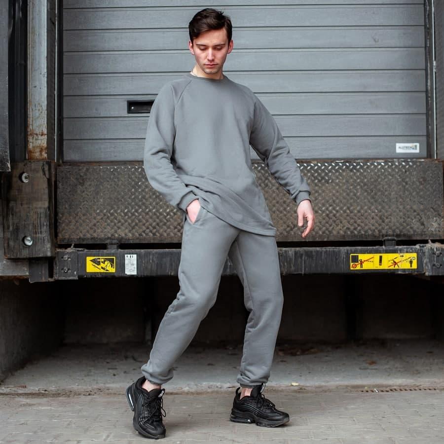 Спортивный костюм South Oversize  gray (свитшот без манжета)