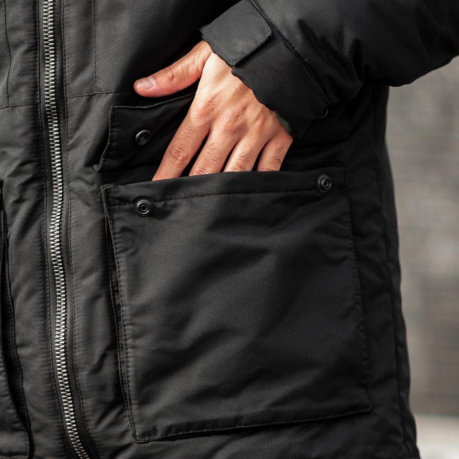 Зимняя куртка South originals black winter - фото 4
